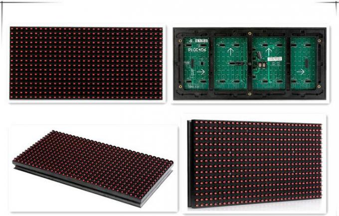Red / Green / Blue P10 LED Module ,  Outdoor Single Color LED Display Card 346 DIP