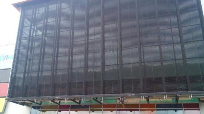 Outdoor Mesh Transparent Led Curtain Screen Easy