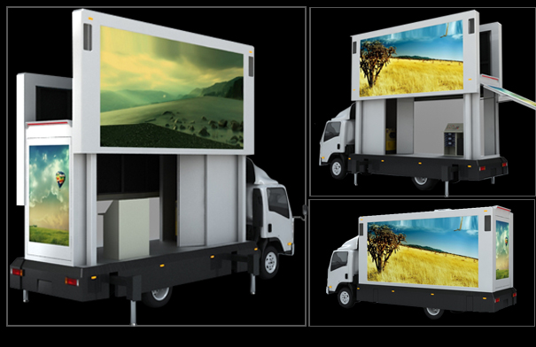 Light Trucks For Sale >> Full Color Mobile Digital Advertising Truck Mounted LED Screen with Multi Media Control