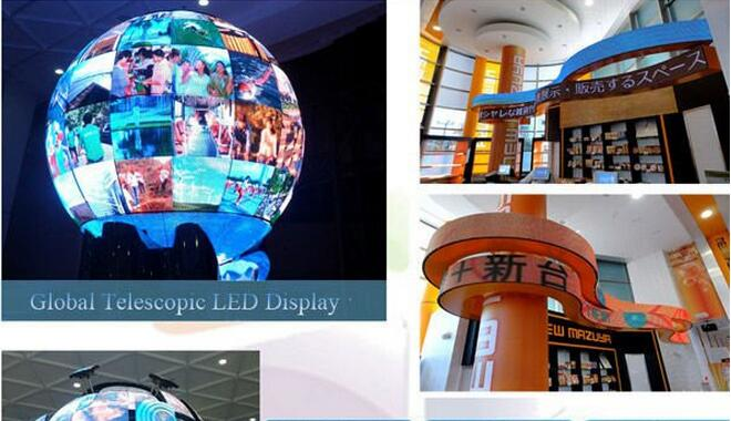 DIY Video Round LED Display Full Color Customized with Synchronous / Asynchronous Control