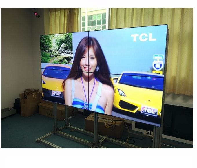 46 49 55 Inch LCD Video Wall Samsung Panel Ultra Thin OLED LG 3.5mm Digital Signage