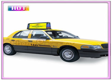 China Aluminum Alloy Slim P5 Taxi LED Display Programmable with 3G / WIFI / GPS / USB Wireless supplier