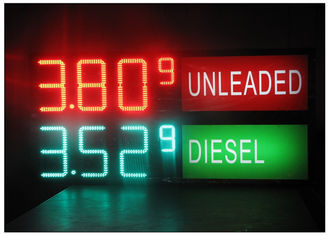 China LED Gas Station Sign for Oil Price , RF LCD Wireless Remote Control Digital 7 Segment Display supplier