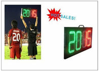 China Digital Number 2 Color LED Soccer Substitution Board 2 Side IP62 Light Weight factory