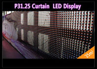 China Transparent See - Through Curtain IP 65 , Rental LED Media Facade for Advertising factory