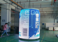 China Staduim Stage / Railway Stations Cylinder Curved LED Display with 7.8mm Pixel Pitch factory