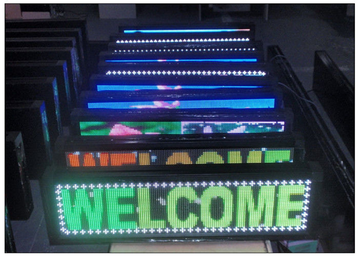 7 color scrolling outdoor programmable led sign 1r1g1b with