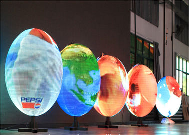 China DIY Video Round LED Display Full Color Customized with Synchronous / Asynchronous Control distributor