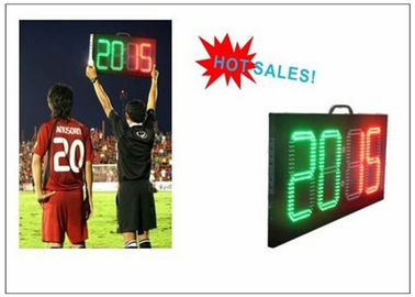 China Digital Number 2 Color LED Soccer Substitution Board 2 Side IP62 Light Weight distributor
