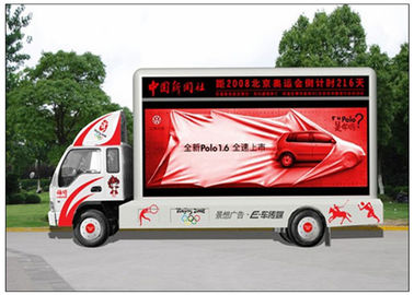 China 4m x 2m Advertising  LED Screen Truck HD with 1/ 4 Scan MBI5020 Driving IC distributor