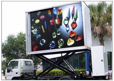China 3 Sides Electronic Full Color Outdoor Message Boards ,  DIP346 LED Sdvertising Truck distributor