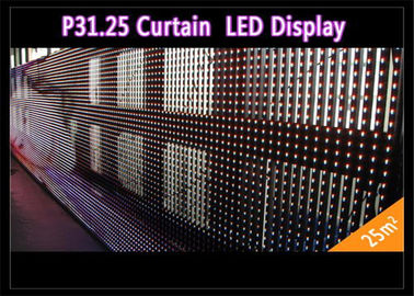 China Transparent See - Through Curtain IP 65 , Rental LED Media Facade for Advertising distributor