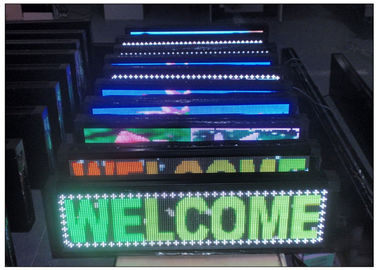 China 7 Color Scrolling Outdoor Programmable LED Sign 1R1G1B with Aluminium Alloy Steel Cabinet distributor