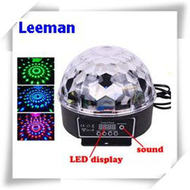 China Digital Rgb LED Magic Ball Light 6W / Professional Stage Lighting Equipment 4500lm distributor