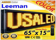 Outdoor Programmable LED Signs Multi Language , Wireless LED
